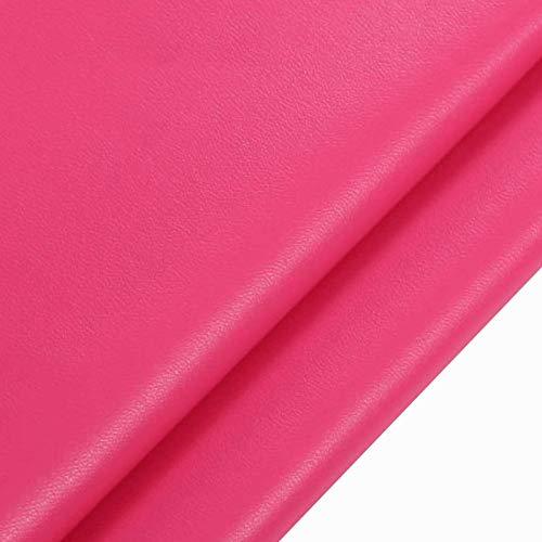 MAGFYLYDL Cuero Artificial De PU Suave Impermeable, para Sofá, Asiento De Coche, Mantel, Decoración De Interiores, Confección, Bricolaje, Etc.(Color:Red#2)
