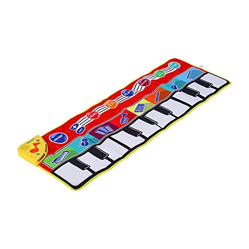 Tapete de Piano Musical Infantil, Tapete de Dança para Teclado, Dobrável Teclados Musicais Tapete Dançante Cobertor Brinquedo de Educação Infantil para Crianças para Maiores de 3 Anos(#1)
