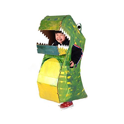 ROCK1ON DIY Doodle Karton Spielhaus Kinder Dinosaurier Anzug Rollenspiel Pappe Spielzeug Färbung Malen Indoor Im Freien Kreatives Weihnachten Alter 3-13