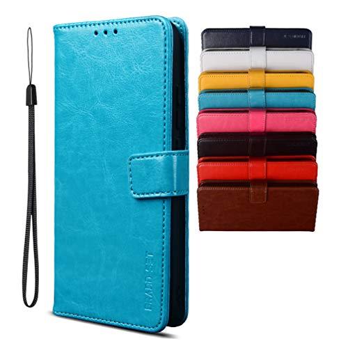 Hülle für CUBOT C20 Handyhülle, Magnetverschluss Premium PU Leder Flip Hülle, mit Kartenfächern Brieftasche Standfuntion Handyhülle für CUBOT C20-Blau