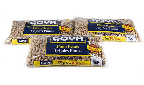 Goya Dried Pinto Beans | Pinto Beans Dry Bulk | 3 lbs Total of Dry Pinto Beans | Bundled with Ballard Recipe Card for Refried Beans