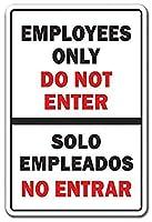 Employees Only National Pride Spanish Entrance Building 金属板ブリキ看板警告サイン注意サイン表示パネル情報サイン金属安全サイン