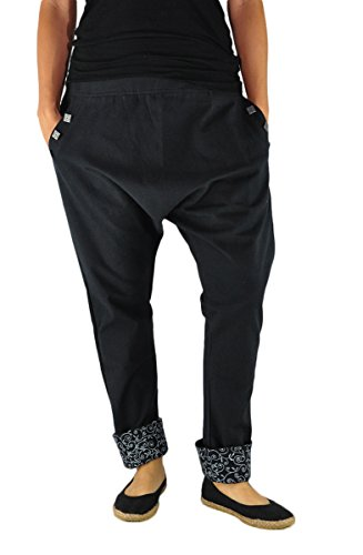 virblatt – Pantalones cagados Mujer Elegantes Pantalones Estilo Harem – PAI