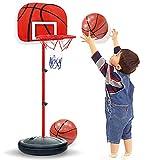 XRDSHY Portátiles Canasta Baloncesto Infantil Mini Altura Ajustable Canasta Baloncesto,120/150/170/200CM Altura Opcional,para Niños Y Niñas con Bomba De Aire Y Bola,Red-170cm(72-170cm)