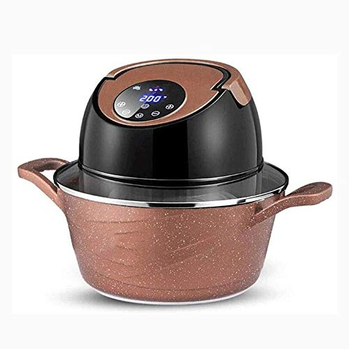 Post 3-in-1 Smart Double Couche d'air Fryer, Hidden Tube de Chauffage à 360 ° C Cyclic Chauffage, Structure séparable et Fonction de chronométrage, Brown