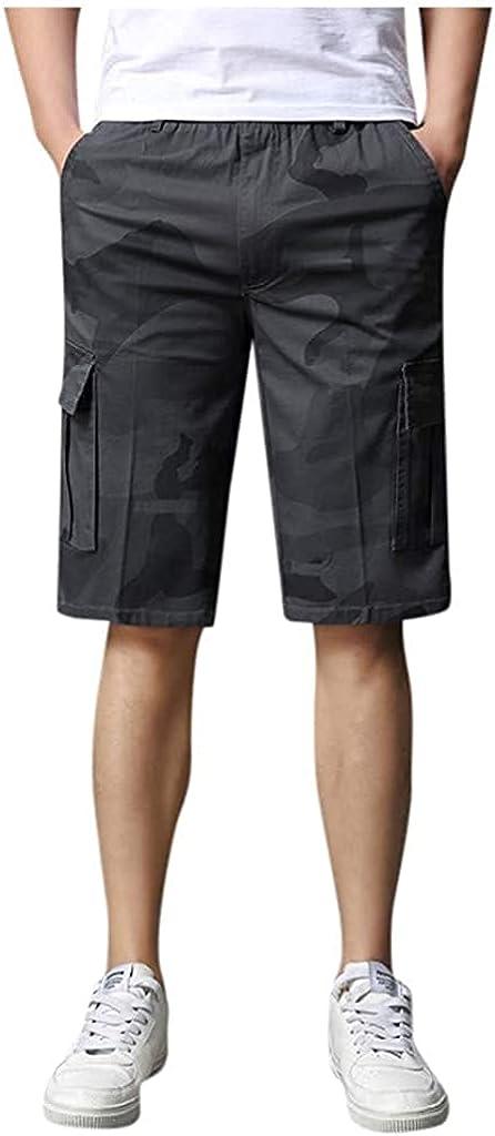 Andrea Spence Fashion Men's Casual Sports Shorts Camouflage Print Multi-Pocket Cargo Pants