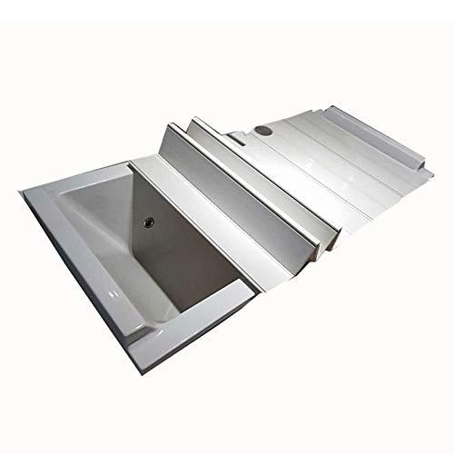 Nevy Badkuip-afdekking, anti-stof plooien, badkuip-isolatieafdekking, pvc, inklapbaar, multifunctionele badkamerrek, 3 maten, ondersteunt badkamer-organizers