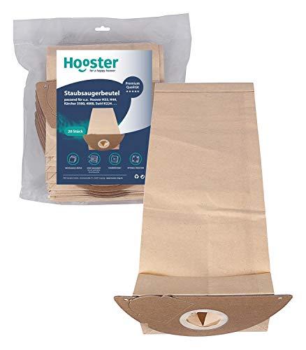 Hooster 20 Stück Staubsaugerbeutel passend für Kärcher A 2101 / A2101 / A-2101 / Papier