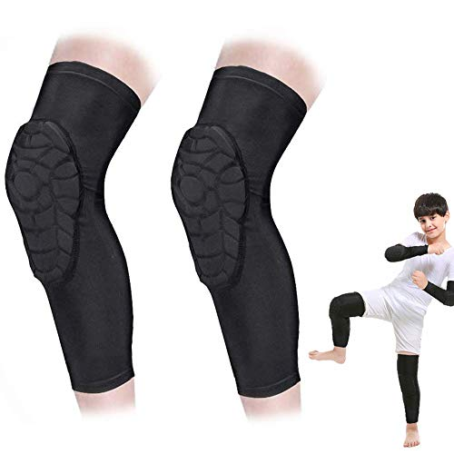 AceList Kids/Youth 5-15 Years Sports Honeycomb Compression Knee Pad Elbow Pads Guards Protective Gear for Basketball, Baseball, Football, Volleyball, Wrestling, Cycling.