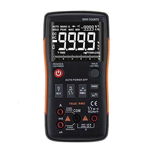 Multimeter, ANENG Q1 True-RMS-Digitalmultimeter-Taste 9999 Zählt mit analogem Balkendiagramm