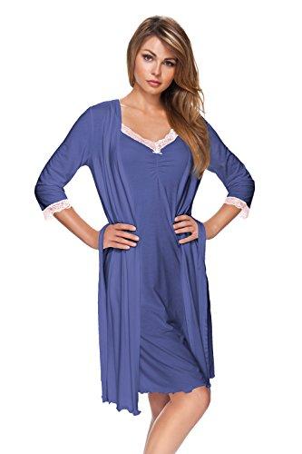 e.FEMME KAJA 178 - Bata para mujer (viscosa y elastano) azul oscuro 42