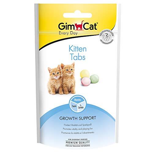 GimCat Kitten Tabs - Funktionaler Katzensnack speziell für junge Katzen ab der 6. Woche - 1 Beutel (1 x 40 g)
