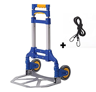 GENE Portable Folding Aluminum Hand Truck Luggage Carts Dolly heavy duty