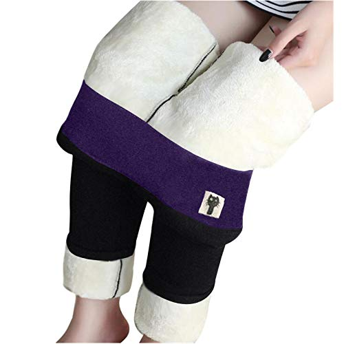 fgsdd Frauen Winter warme Leggings - Dicke Samt Strumpfhose Thermohose
