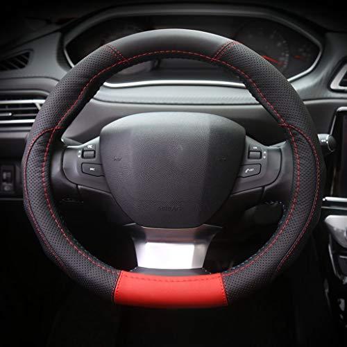Dongfeng Peugeot 308 Nueva Generación De Dirección De Piel Cubierta De La Rueda De Dirección Del Logotipo 308s 2008 Especial Del Coche Cubierta De La Rueda (Color : Red)