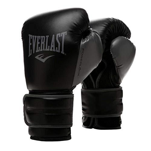 EVERLAST Powerlock 2R - Guantes de Entrenamiento, Color Negro (12 oz)