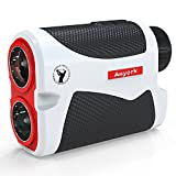 Anyork Golf Rangefinder 6X Laser Range Finder 1500 Yard with Slope On/Off ,Flag-Lock Tech with Vibration, Continuous Scan Support ,Free Battery,Red/White/Black Color (Upgrade)