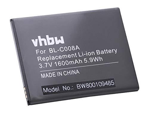 vhbw batteria compatibile con NGM Forward Prime smartphone cellulare telefono cellulari (1600mAh, 3,7V, Li-Ion)