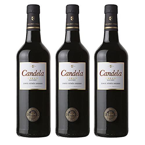 Vino dulce Cream Candela de 75 cl - D.O. Jerez-Sherry - Bodegas Grupo Caballero (Pack de 3 botellas)