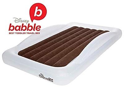 La Shrunks cama de viaje portátil hinchable colchón de aire cama para niños para viajes o uso doméstico, color blanco