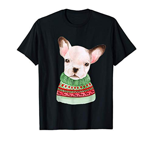 French Bulldog Ugly Christmas Sweater Frenchie Lover Holiday T-Shirt