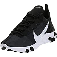 Nike W React Element 55, Zapatillas de Running para Mujer, Negro (Black/White 003), 39 EU