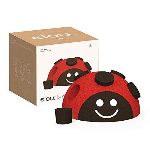 ELOU Ladybug – 100% Sostenible - Juguetes de Habilidades Motoras - Juguete de Aprendizaje para Niños y Niñas de 2 años – Formas y Ajustes - Ideal para 18-36 meses – Corcho - Made in Portugal
