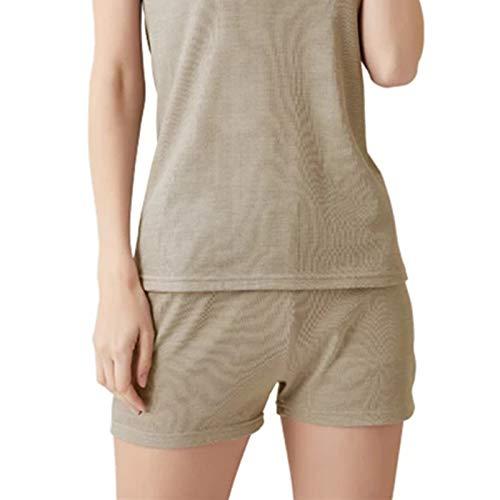 Lhlxs Anti-Strahlungs-Unterwäscheset, Baumwollmaterial aus 100% Silberfaser, 5 g Kommunikations-EMF-Abschirmung Eng anliegende Unterwäsche,Pants,M