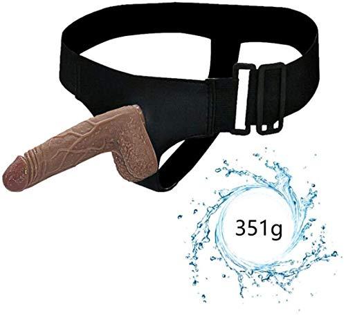 AMYD Tragbarer Silikondildo Für Männer Und Frauen, Produkte Für Erwachsene Mit Abnehmbarer Lederhose Für Weibliche Masturbation, Schwule Paare,Brown