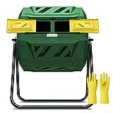 4. Compost Tumbler Bin Composter Dual Chamber 43 Gallon