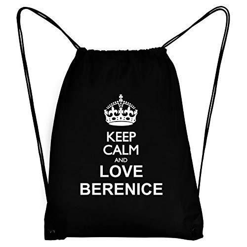 Teeburon Keep Calm and Love Berenice Bolsa Deportiva 18' x 13'