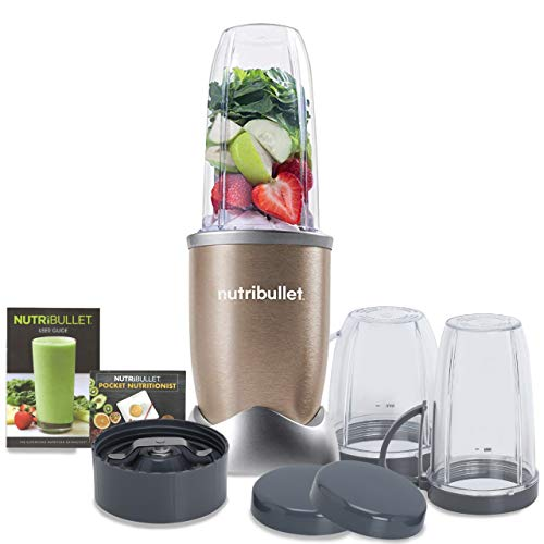 Nutribullet PRO High Speed Blender/Mixer/Smoothie Maker - 900 Watts - 12 Pcs Set;Gold