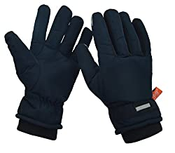 HIVER Mens and Womens Waterproof Teslon Gloves With Touchscreen, Winter Gloves, Snow gloves for minus degrees, Mens gloves & Womens gloves