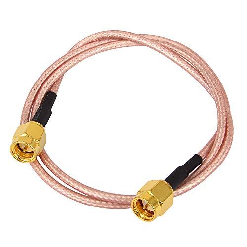 BOOBRIE 1 X Cable SMA Macho 50cm Cable de WiFi Antena Cable Coaxial SMA Macho a Macho RG316 Conector SMA Macho a SMA Macho Cable de Extensión SMA Macho para WiFi/Antenas/Periféricos de LAN Inalámbrica