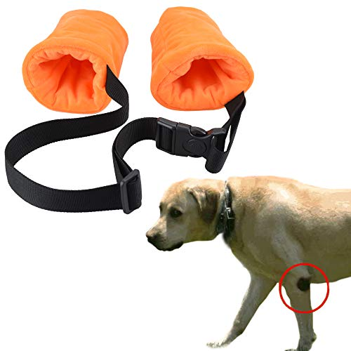 YUYUSO Dog Elbow Protector Fleece Elbow Sleeves with Cotton Pad for Dogs Prevent Injury