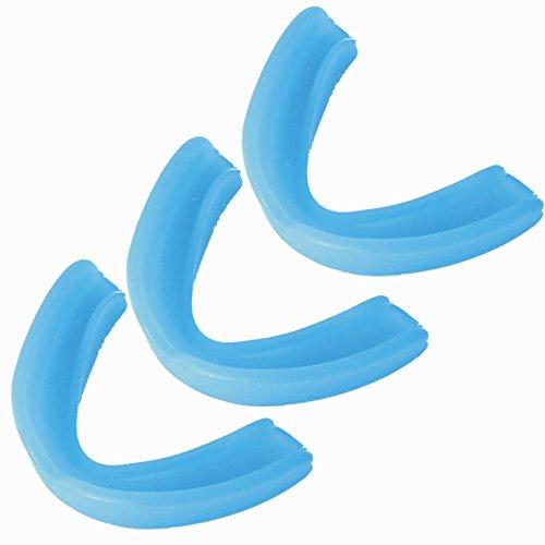 BAY 3er SPARSET - BLAU CE GEPRÜFT für Kinder Zahnschutz Single Mundschutz Gebißschutz Sport Kids Junior Jugend Blue 3 Stück