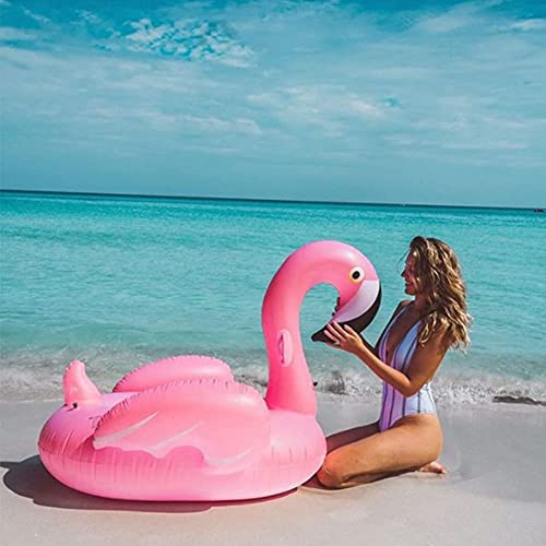 Lady of Luck Aufblasbare Flamingo Luftmatratze Schwimmende Spielzeug Pool PVC Aufblasbare Schwimmende Bett Erwachsene / Kinder Freizeit Raum