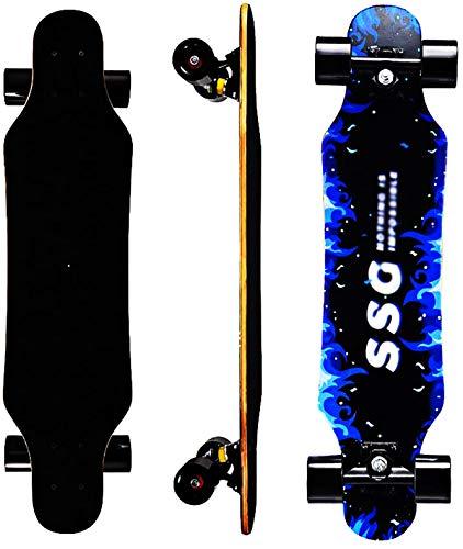 """Skateboard 7 Layers Decks 31""""x8"""" Pro Complete Skate Board Maple Wood Longboards for Teens Adults Beginners Girls Boys Kids"""