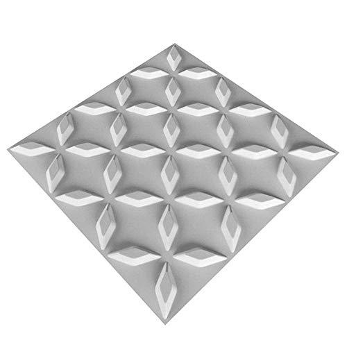 Dekorative 3D Wandpaneele Strukturierter Wand-3D Design für moderne Wand-Dekor, Sub-Weiß, 10 Panels 27 Qm