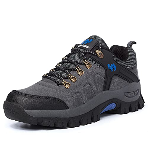 VTASQ Zapatillas De Senderismo Hombre Mujer Al Aire Libre Antideslizantes Zapatillas de Trekking Transpirable Deporte Ligeras Unisex Botas de Senderismo Gris 41 EU