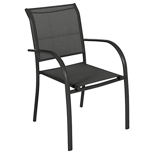 Hespéride Fauteuil empilable Piazza Anthracite/Graphite