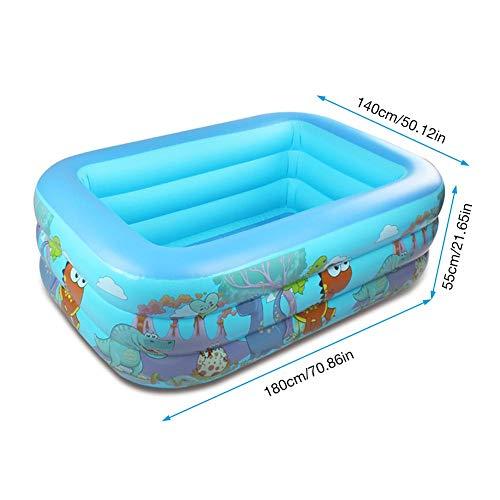 Lvhan Aufblasbarer Pool - Family Pool Planschbecken,Familienpool Aufblasbar Schwimmbad für Kinder Erwachsene