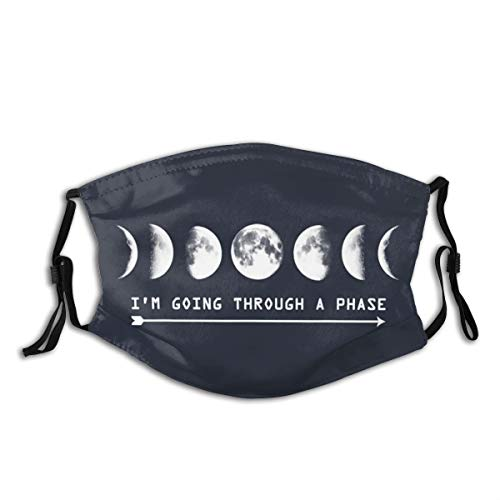 Kerzen Personalized Dust Mouth Cover with Im Going Through A Phase Moon...