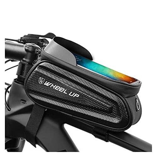 feifei Bolsa de Bicicletas Impermeable 7.0 Pulgadas Teleado Teléfono Teléfono Teléfono Bolsa de Ciclismo Tapa Frontal Frontal Marco MTB Carretera Bicicleta Bolsa Accesorios (Color : Black)