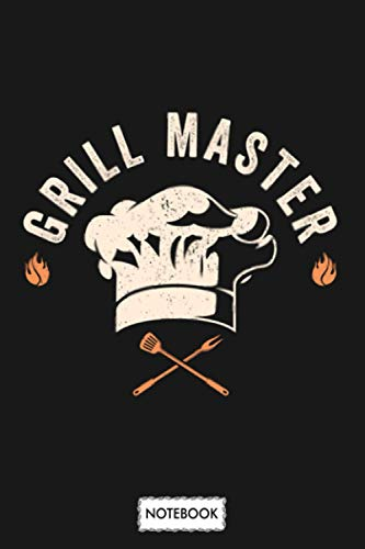 Grill Master Grilling Bbq Grill Party Gift Notebook: Lined College Ruled Paper, Journal, Matte Finish Cover, Planner, Diary, 6x9 120 Pages