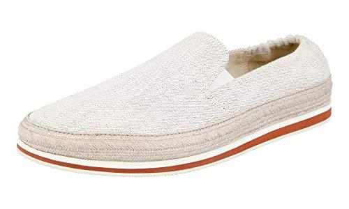 Prada Herren Weiss Stoff Schuhe 4D2363 40.5 EU / 6.5 UK