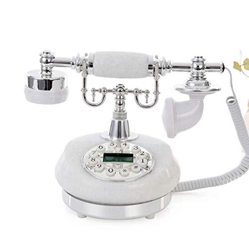 LDDZB Teléfono oficina casera retro europeo botón dial con pantalla fijo teléfono fijo