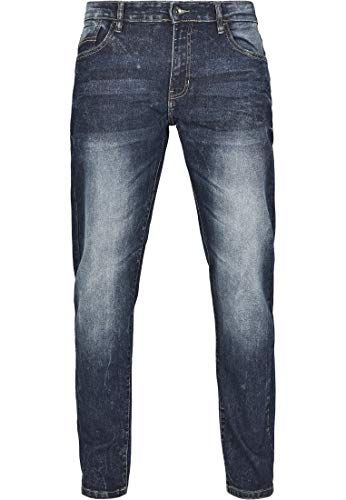 Southpole Herren Stretch Basic Denim Skinny Fit Jeans, md.Sand Blue, 36/30