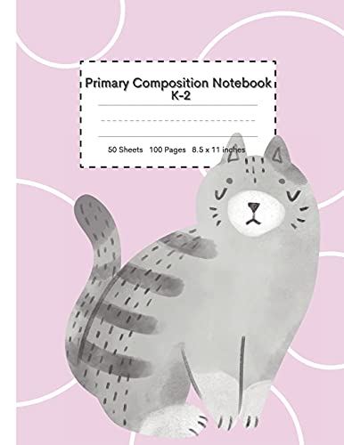 Primary Composition Notebook k-2: Composition Notebooks Primary, Grades k-2 Writing Dotted Lined Notebook, A Primary Journal Early Creative Story ... Area, Bonus Coloring and Alphabet Pages