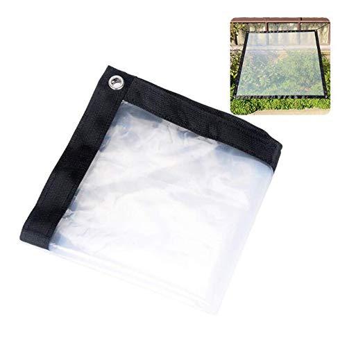 YU-ZC0 Transparente Lona Impermeable cobertizo de Tela Anti-congelación del Parabrisas Película de plástico a Prueba de Aves de jardinería Impermeable Aislamiento PE Anti-Aging,4 * 8m